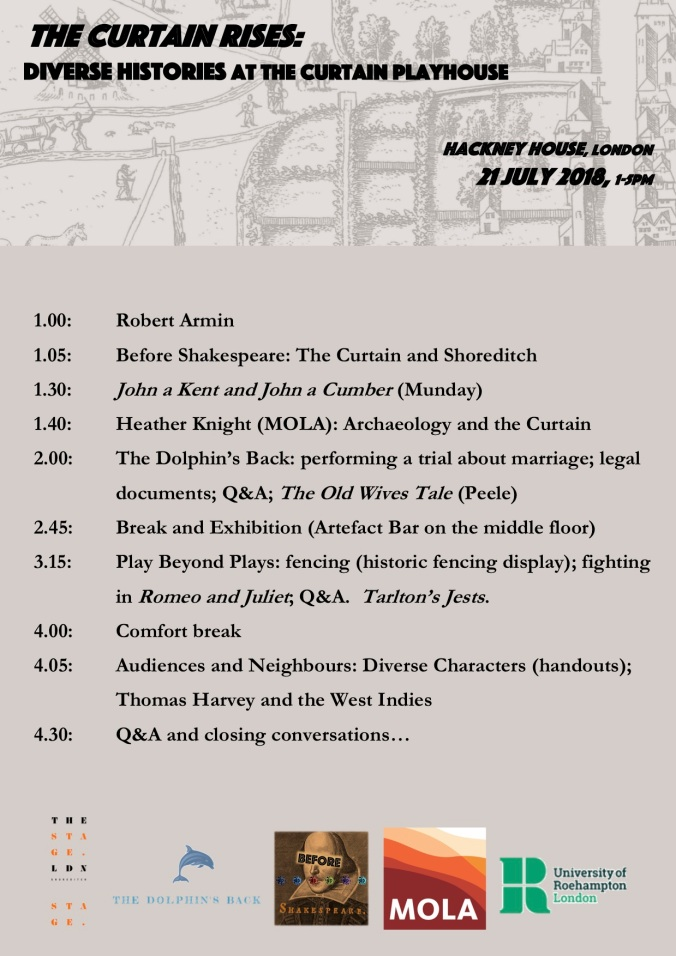 Curtain Rises RUNNING ORDER